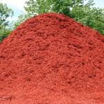 Sedona Red colored hardwood mulch